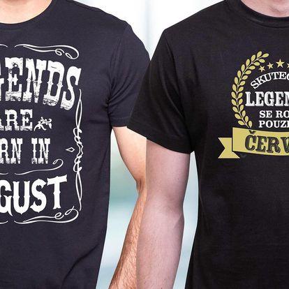 Když se zrodí legenda: pánská narozeninová trička