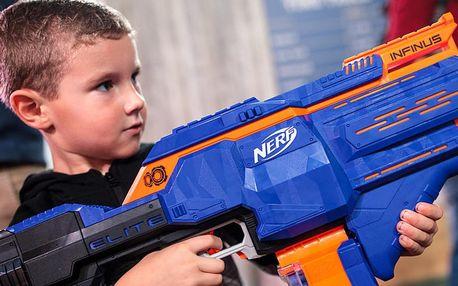 Zábavná Nerf střílečka pro děti v centru Brna