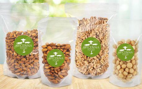 Kešu, pistácie, mandle i směsi ořechů, až 1 kg