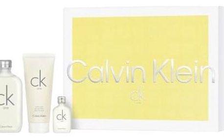Calvin Klein CK One dárková kazeta unisex toaletní voda 100 ml + toaletní voda 15 ml + sprchový gel 100 ml