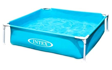 INTEX 57173 Frame Mini modrý 122x122x30 cm