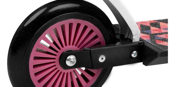 Koloběžka SPOKEY Duke 125 mm černo-růžová3