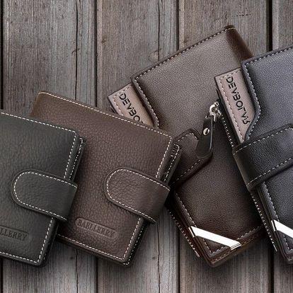 Stylové pánské peněženky z pravé i umělé kůže