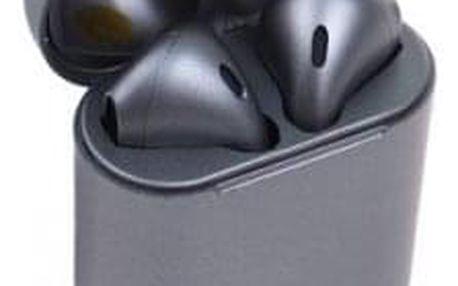 Sluchátka i12 TWS a dobíjecí box šedá
