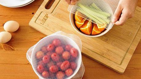 Sady silikonových pokliček pro uchování potravin