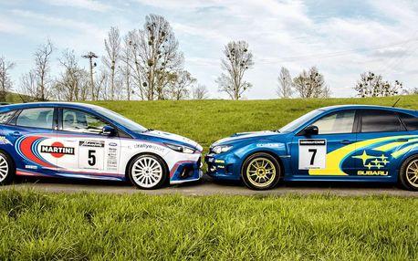 Rallye jízda v Subaru Impreza nebo Fordu Focus