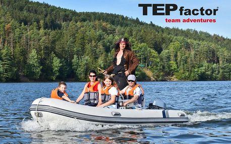 Honba za pokladem na Slapském jezeře až pro 4 osoby