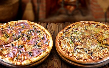 1 nebo 2 křupavé pizzy podle výběru z 32 druhů