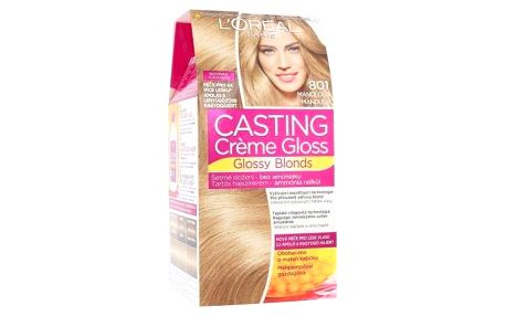 L´Oréal Paris Casting Creme Gloss Glossy Blonds 48 ml barva na vlasy pro ženy 801 Silky Blonde