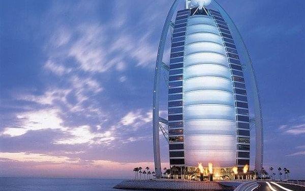 Burj Al Arab, Dubai, Spojené arabské emiráty, Dubai, letecky, snídaně v ceně3