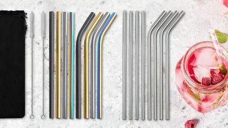 Sety kovových brček: rovné i zakřivené vč. kartáčku