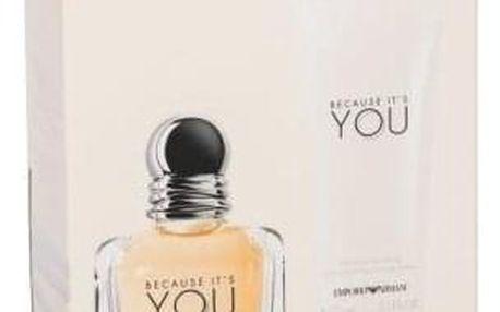 Giorgio Armani Emporio Armani Because It´s You dárková kazeta pro ženy parfémovaná voda 50 ml + tělové mléko 75 ml