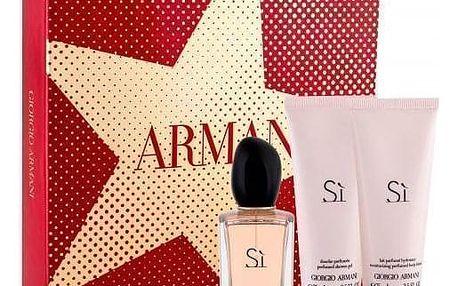 Giorgio Armani Sì dárková kazeta pro ženy parfémovaná voda 50 ml + tělové mléko 75 ml + sprchový gel 75 ml