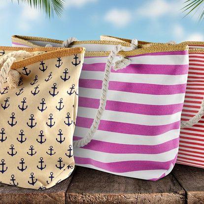 Velká plážová taška na plavky, osušku i pití
