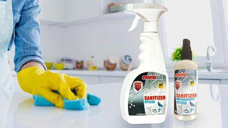Sanitizér s nanostříbrem: kapesní a domácí balení