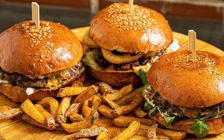 2× burger dle výběru z 10 druhů i rozvoz po Brně