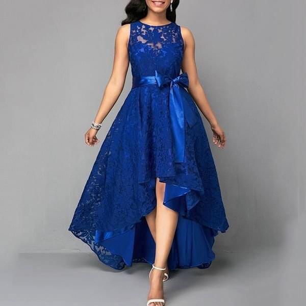 Dámské společenské šaty Gallia Modrá-velikost č. 4 - dodání do 2 dnů