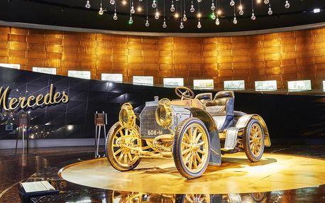 Výlet do Německa do muzeí Porsche a Mercedes-Benz