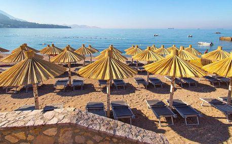 Pobyt v Černé Hoře: soukromá pláž a polopenze
