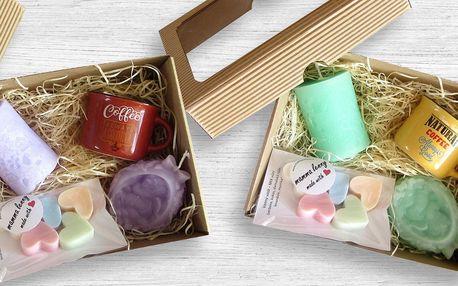 Dárková sada designových svíček a vonných vosků