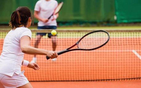 Pronájem tenisového kurtu v Lužánkách až pro 4 osoby