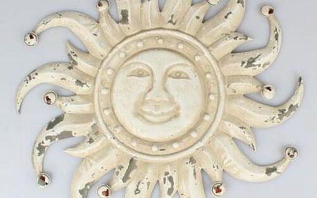Kovová dekorace na zeď Slunce, 50 x 50 x 3 cm