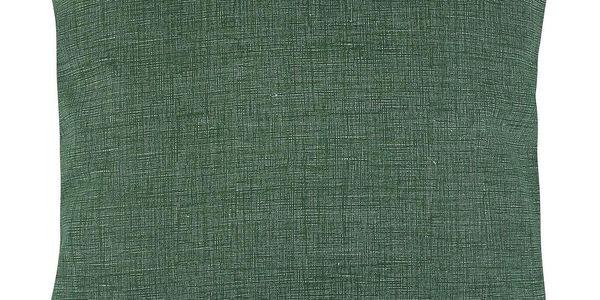 Bellatex Polštářek Adéla Uni tmavě zelená, 40 x 40 cm