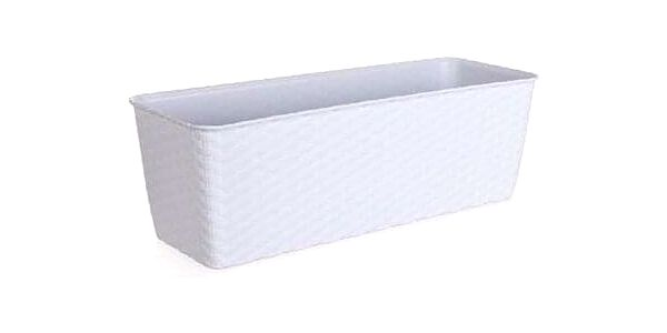 Nohel Garden Truhlík samozavlažovací NATURAL plastový 40x16x13cm, bílá