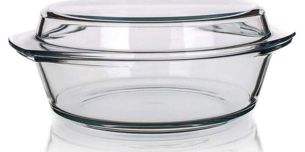 SIMAX Pekáč skleněný kulatý s víkem 3,7 l ( 2,50/1,20)