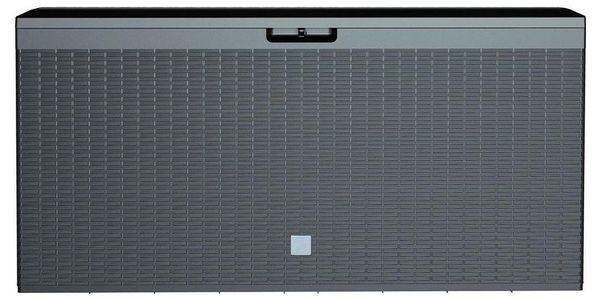 Zahradní úložný box Boxe Rato Plus antracit, 290 l, 114 cm