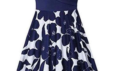 Dámské šaty s krátkým rukávem Reese Modrá-velikost č. 5 - dodání do 2 dnů