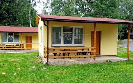 Retro chatky v kempu u Českého Švýcarska
