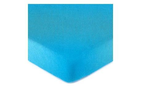 4Home jersey prostěradlo modrá, 140 x 200 cm