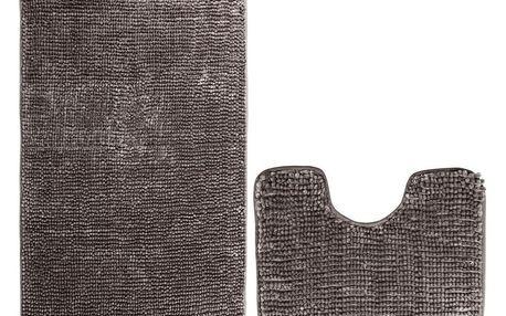 AmeliaHome Sada koupelnových předložek Bati hnědá, 2 ks 50 x 80 cm, 40 x 50 cm