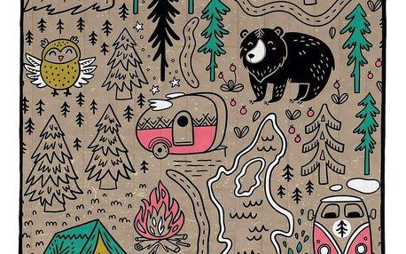 Butter Kings Skládací kempingová deka Camping, 145 x 180 cm