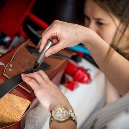 Workshop v Praze - výroba koženého opasku