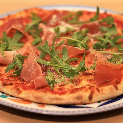 1 nebo 2 křupavé pizzy podle výběru z 8 druhů