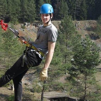 2 hodiny ferratového lezení s instruktorem v Moravském Krasu