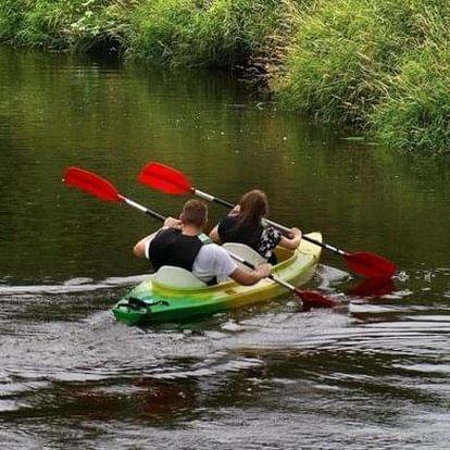 Celodenní výlet kánoí nebo raftem po řece Sázavě