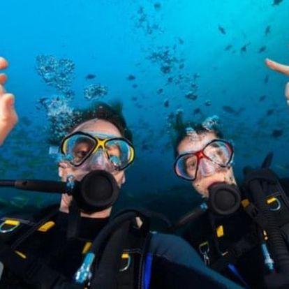 Open Water Diver - kurz potápění pro dva do hloubky 18 m