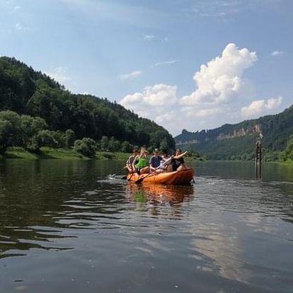 Nafukovacím člunem a na kole z Děčína do Bad Schandau