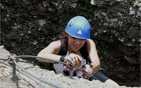 Via ferrata: lezení pro skupinu nebo rodiče s dětmi