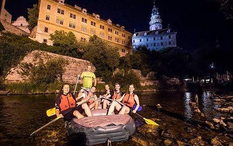 Noční rafting v Českém Krumlově
