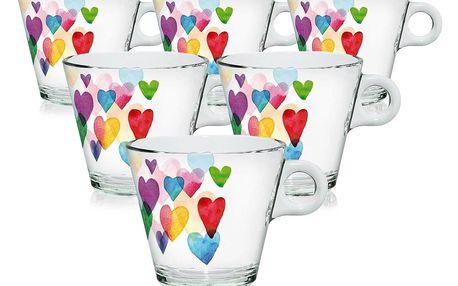 Mäser 6dílná sada šálků Love Rainbow, 80 ml