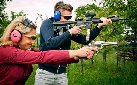2 hodiny zážitkové střelby se čtyřmi zbraněmi poblíž Kolína