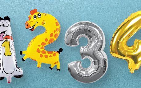 Nafukovací balónky ve tvaru čísel: 30 variant