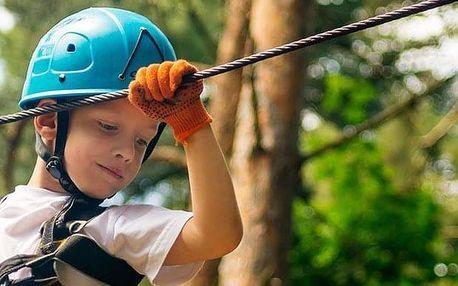 Vstup do dětského lesního lanového parku v Janských Lázních