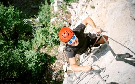 Lezení na Via Ferrata Slánská hora