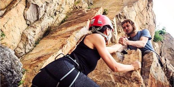 Úvodní lezecký kurz na skalách Stará strana u Písku