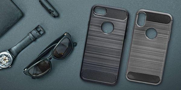 Pouzdro Carbon s tvrzeným sklem pro 100 telefonů
